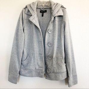 ASOS New Look Gray Hooded Jacket Sz medium